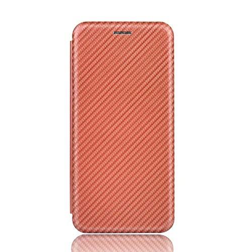 Miagon Xiaomi Redmi 9C Brieftasche Hülle mit Kohlefaser Textur,PU Leder Schutzhülle mit Kartenfach Handyhülle Tasche Etui Folio Flip Cover Case Tasche für Xiaomi Redmi 9C