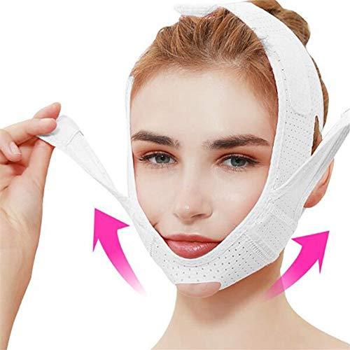 ZJXYYYzj V Lifting Masque, Respirant V Visage Cheek Lift Up Band Masque Mince Réduire Double Menton V-Line Mise en Forme Bandage Anti-Rides Visage Bandage (Color : White)
