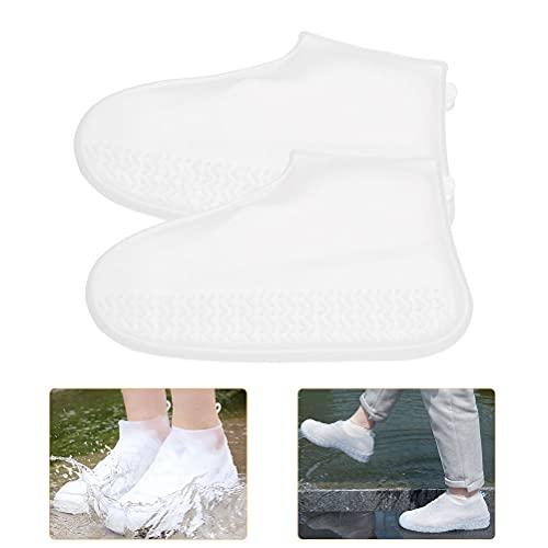 OFNMY Silikon Überschuhe Unisex wasserdichte Silikon Regenschutz Regenschuh Schuhschutz(M,35/40, 24.5cm, EIN Paar)