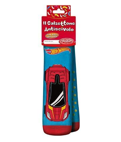 Dolfin CALZETTONE Antiscivolo Calza della BEFANA con Caramelle 150 Grammi (Hot Wheels)