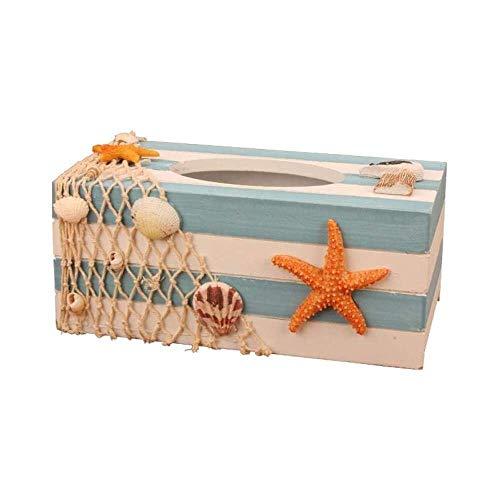 YuKeShop HZR Caja de pañuelos Caja de almacenamiento de pañuelos Caja de papel creativa Caja de pañuelos Retro Caja de papel para el hogar Caja de papel pastoral Sala de estar Lindo