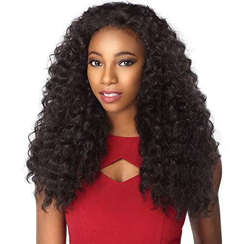 Sensationnel Synthetic Hair Half Wig Instant Weave - Amani (1B)