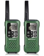 Walkie-Talkies USB Recargable, Profesional Walky Talky Adultos 16 Canales Scan VOX PMR446 Transceptor Radio Walkie Talkie con Linterna LED, IP67 Resistente a la Intemperie SOS Alcance de hasta 10 km