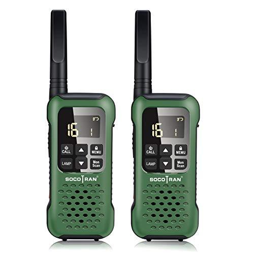 Walkie Talkies Ricaricabile, SOCOTRAN IP67 Impermeabile Radio Ricetrasmittente Lunga Distanza PMR446 Professionali Walky Talky 16 Canali e 121 Canali con 6 Batterie e Caricabatterie, Torcia VOX SOS