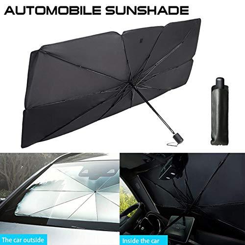 MYYU Parabrisas Delantero del Coche Cortina Parasol Parasol Retráctil con Aislamiento Térmico Protector Solar con Rayos UV Y Protector Solar,79 * 145cm