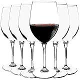 Bormioli Rocco - Hochwertige Rotweingläser 6-teiliges Set - Weinglas - Rotweinkelch - Füllmenge: 600ml - höhe 24,5 cm - elegant und bruchbeständig - Spülmaschinenfest