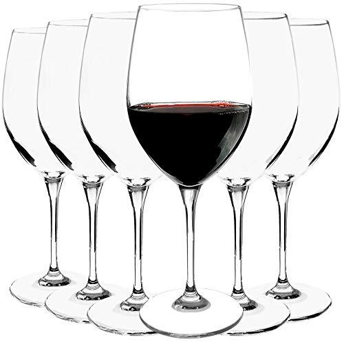 Bormioli Rocco - Hochwertige Rotweingläser 6-teiliges Set - Weinglas - Rotweinkelch - Füllmenge: 560ml - höhe 23 cm - elegant - Spülmaschinenfest