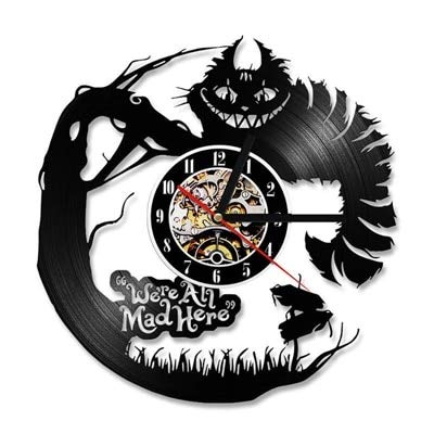 qweqweq Disco de Vinilo Reloj de Pared diseño Moderno decoración de Dibujos Animados habitación de niños Reloj Reloj de Pared decoración del hogar