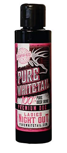 Pure Whitetail Ladies Night Out Doe Urine (Non-Estrous) - 4 oz, Fresh 100% Pure Mock Scrape Attractant and Calming Cover Scent from Multiple Does