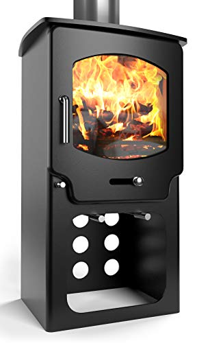 Saltfire ST-X4 Tall Multifuel Woodburning Stove 5kW DEFRA Approved EcoDesign Clean Burn High...