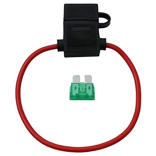 5x KFZ Auto Sicherungshalter + 19mm 30A Flachsicherung ; Wasserdicht