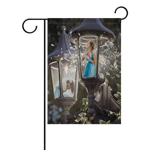 LIANCHENYI Broken Laterne Singen Feen doppelseitig Familie Flagge Polyester Outdoor Flagge Home Party Decro Garten Flagge 30,5x 45,7cm, Polyester, multi, 12x18(in)