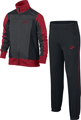 Nike B NSW TRK Suit Pac Poly Veste pour Enfants S Multicolore - Anthracite/Noir/Rouge (Anthracite/Black/University Red/Gym Red)