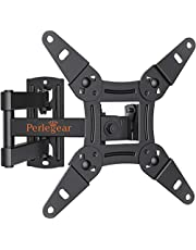 Perlegear Full Motion TV Wall Mount Bracket for Most 13-42 Inch LED LCD Flat Curved Screen TVs & Monitors, Swivel Tilt Extension Rotation with Articulating Arms, Max VESA 200x200mm up to 44lbs