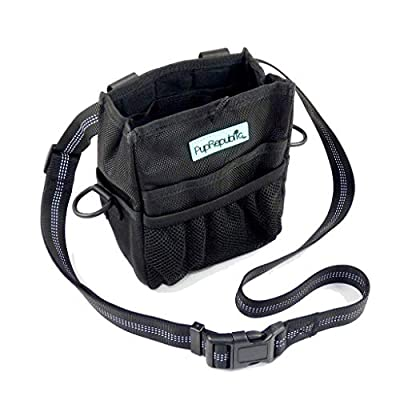 PupRepublic Dog Training Treat Pouch with Poo Waste Bag Dispenser,Strong Magnetic Closure,Adjustable Reflective Belt or Shoulder Strap