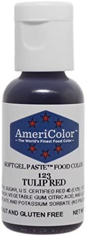 Americolor Soft Gel Paste Food Color 75 Ounce Tulip Red product image