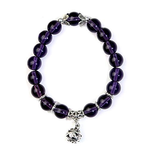 LJSLYJ Natürliche Opal Perlen Armbänder Kristall Mode Frauen Armband Vintage Edelstahl Armbänder Für Frauen