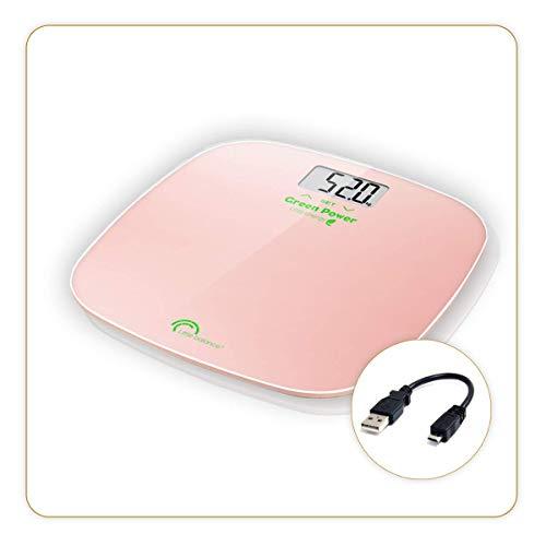 LITTLE BALANCE - Pèse-personne avec analyse IMC (Indice de Masse Corporelle) sans piles - Rechargement USB - 180 Kg/ 100 g - Multi-utilisateurs