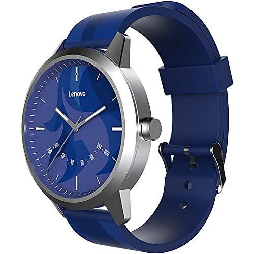 lenovo smartwatch Lenovo Guarda 9 Bluetooth intelligente Guarda il vetro dello zaffiro 50M impermeabile Monitoraggio della frequenza cardiaca Orologio Ufficiale Moda Sport Smartwatch (virgo Blu)