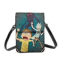 Rick Morty - Bolso bandolera de piel impermeable para mujer y hombre, bolsa de almacenamiento portátil