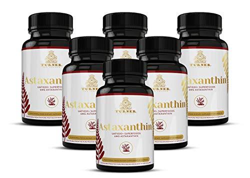 TURNER ASTA Astaxanthin, 6mg Astaxanthin Supplement, 6 Pack, 360 Count