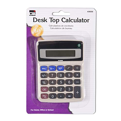 Charles Leonard Calculator - Desktop - 8 Digit - 1/Card, (39200)