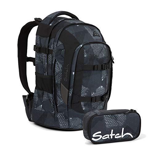 Satch Pack Infra Grey Schulrucksack Set 2tlg.
