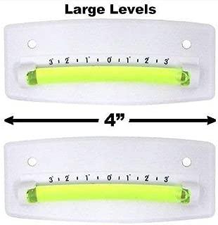EZ Travel Collection 2-Pack Bubble Graduated Scale Levels Trailer Leveler Large (White)