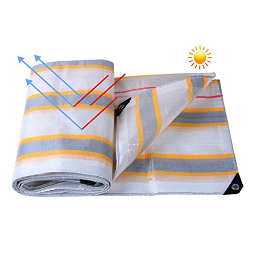 Universal Tarp cover Heavy Duty Waterproof Tarpaulin Thicken Edging Dustproof Rainproof Tarp Reinforced Rip-Stop for Plants Greenhouse Pet Hutch Roof