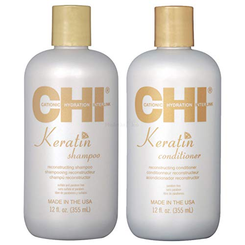 CHI Keratin Rekonstruierendes Shampoo 355ml + Conditioner 355ml