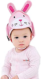 Baby anti-fall head protection cap baby toddler anti-collision hat shatter-resistant hat child safety helmet head cap (Rabbit)