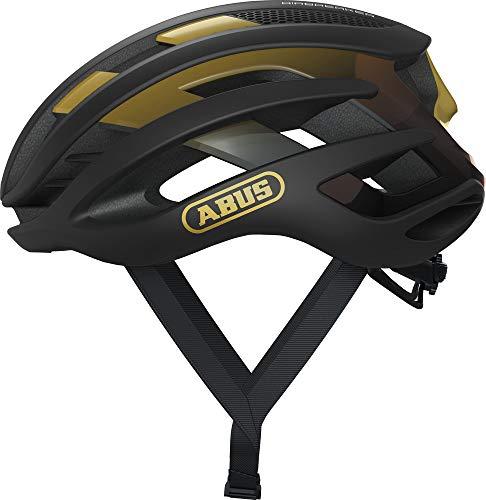 ABUS AIRBREAKER Rennradhelm - High-End Fahrradhelm für den professionellen Radsport - Unisex, für Damen und Herren - 86830 - Schwarz/Gold, Größe M