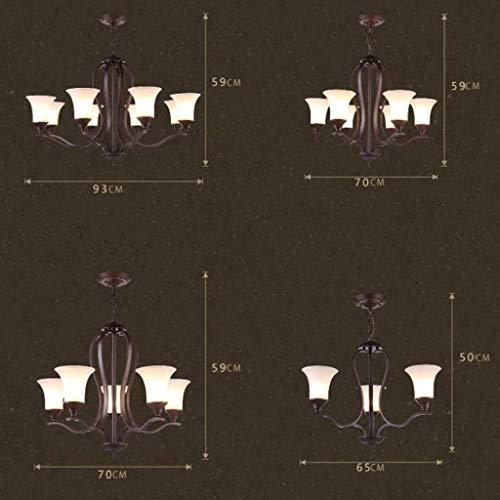 CENPEN Forma lámparas pendientes de País retro sala de estar de la lámpara de la lámpara del restaurante Vidrio Hierro Lámpara antigua de hierro de alta calidad retro iluminación de las luces 3/5/6 Lu