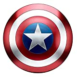 Getrichar Capitan America Scudo in metallo Cosplay Costume Prop, adatto per decorazione domestica Handheld Movie Edition Supereroe Accessori, 47 cm