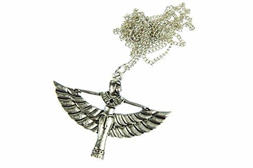 Miniblings Ägypten ISIS Flügel Göttin Halskette - Handmade Modeschmuck I Kette mit Anhänger Länge: 80cm - Ägyptisch Widergeburt