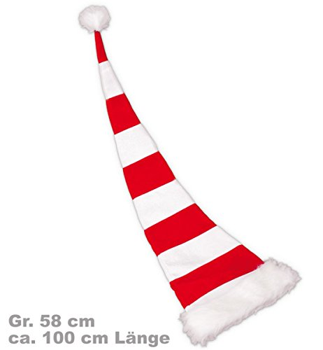 Gurimotex Bonnet de noël père noël ringelmütze partyspass 100 cm