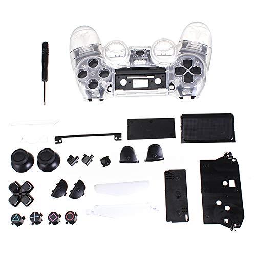 REFURBISHHOUSE Klar Shell Vollstaendige Gehaeuse Fall Controller-Ersatzbezug Fuer PS4 Playstation 4