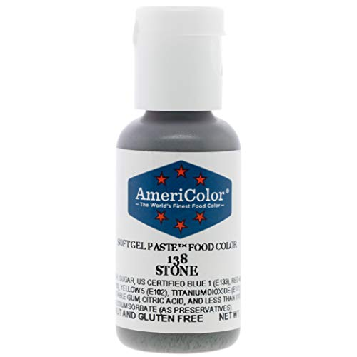 Food Coloring AmeriColor Stone Soft Gel Paste 75 Ounce