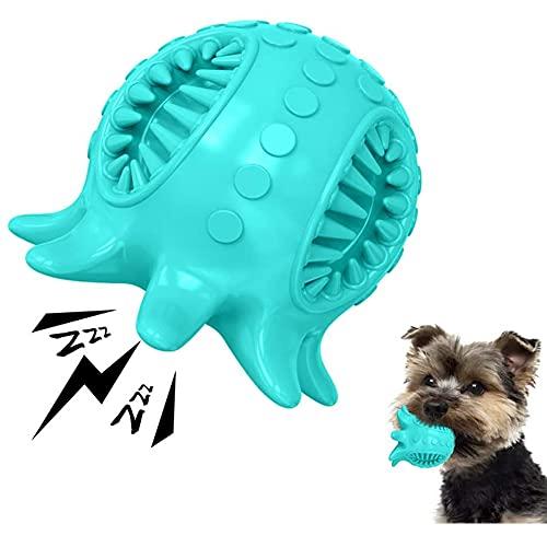 AnCoSoo Octopus Kauspielzeug für Hunde, unzerstörbar, quietschendes Hundespielzeug, robustes Gummi-Spielzeug, Zahnreinigung, Schwimm-Hundespielzeug für kleine/mittelgroße Hunde
