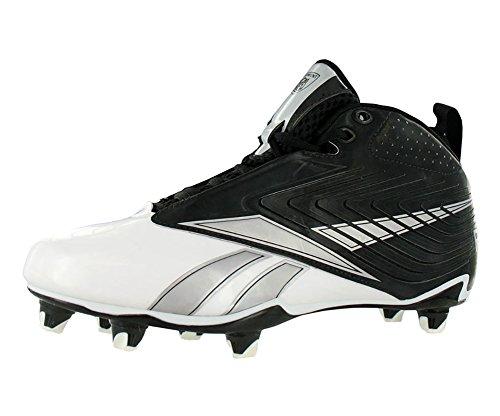 Reebok NFL U-Form 4 Speed Mid SD4 Men's Football Shoes (13.5, Black/White)
