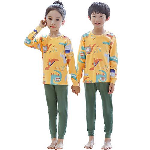 CARETOO 子供 パジャマ 男女兼用 寝巻き上下セット長袖 ボーイズ 秋冬 Tシャツ部屋着 寝間着 綿100% 快適 肌触りがいい