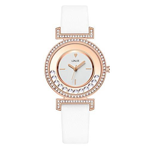 CHIYANG Damenuhr Quarzarmband Edelstahlarmband Einfache Mode Lederarmband Uhr