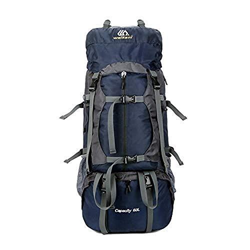 WENZHEN Mochila Nevera,60L Sport Mochila Impermeable al Aire Libre Mochila con Funda de Lluvia para Senderismo Camping Escalada Montañismo Camping Pesca Viajes Ciclismo Esquí @ Blue_30 * 26 * 72cm