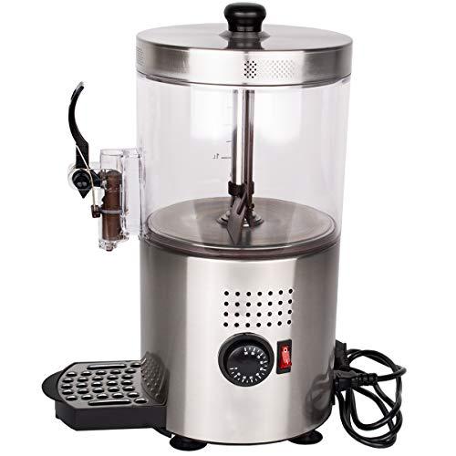 Beeketal 'BKD-1' Kakaodispenser 3L zum Erwärmen oder Warmhalten von z.B. Kakao, Kaffee oder Tee, Kakaowärmer stufenlos bis 90 °C einstellbar mit Überhitzungsschutz inkl. Messbecher und Ersatz Zapfhahn