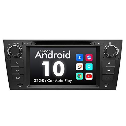 2021 Upgraded-Android Car Stereo Android 10 Car Stereo Eonon Car Radio Applicable to BMW 3 Series GPS Navigation for Car Support Carplay Android Auto/WiFi/Fast Boot/DVR/Backup Camera-7 Inch-GA9465