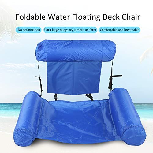 Alomejor Poolliege Faltbarer Wasser Aufblasbarer Liegestuhl Pool Schwimmender Liegestuhl Anti-Air Leaking Design für Backyard Lakeside Beach(mit Auftriebsbrett)