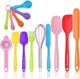 Silicone Spatula 14Pcs Set, Umite Chef Mini Rubber Spatula Set-Versatile Tools Created for Baking and Mixing-One Piece Design, Non-Stick & Heat Resistant-Stainless Steel Core (Multicolor)