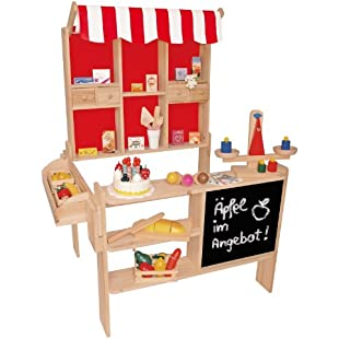 Apex Beluga Toys 30860Wooden Grocery Shop Dimensions 100x 78x 66cm