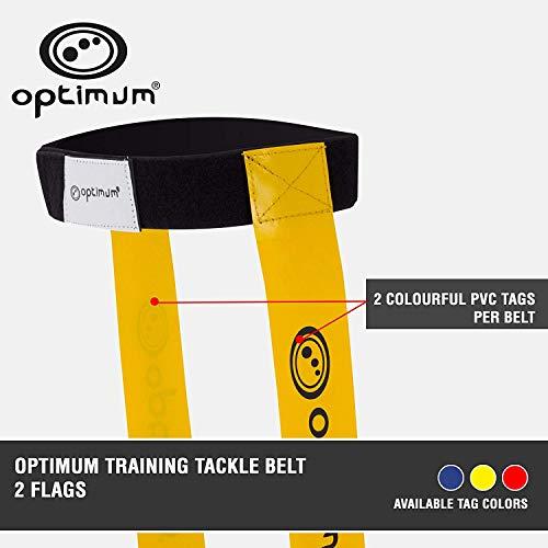 Optimum Touch Rugby Tackle Tag Gürtel und 2 Flaggen - Gelb