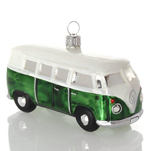 Preisvergleich Produktbild Hanco Christbaumschmuck VW Bus grün,  10, 5cm